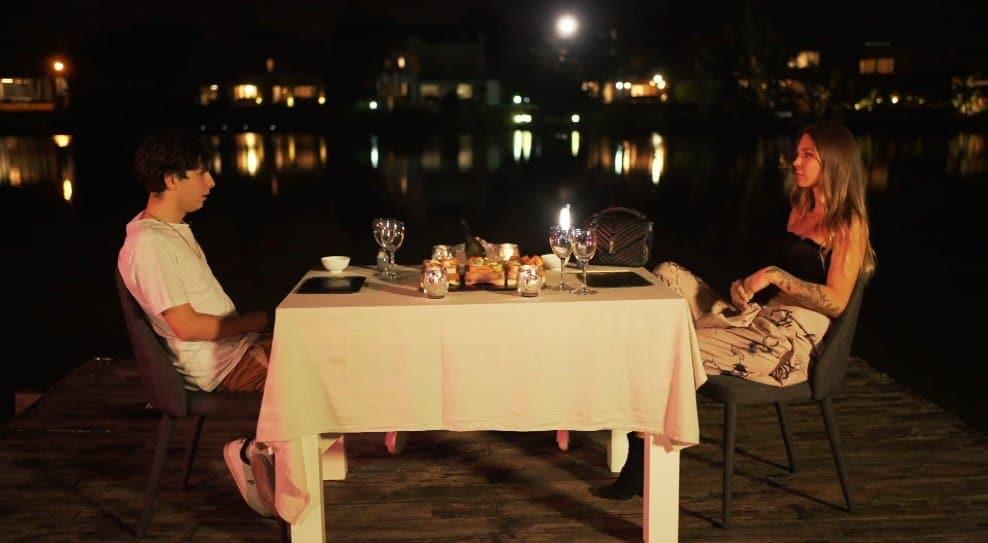 Oscu y Romina Malaspina finalmente tuvieron una cita al aire libre