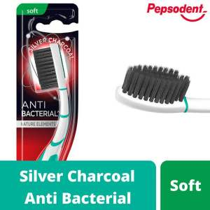 Pepsodent Silver Charcoal Anti Bacterial Tooth Brush - Soft - 1pc - ClickUrKart