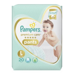 Pampers Premium Care Pants Diapers, Large - 20 Pieces