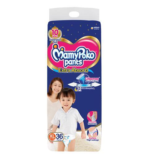 Mamypoko Pants - Extra Absorb Diaper, Extra Large Size, 36 pcs