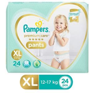 Pampers Premium Care Pants Diapers, XL Large - 24 Pieces