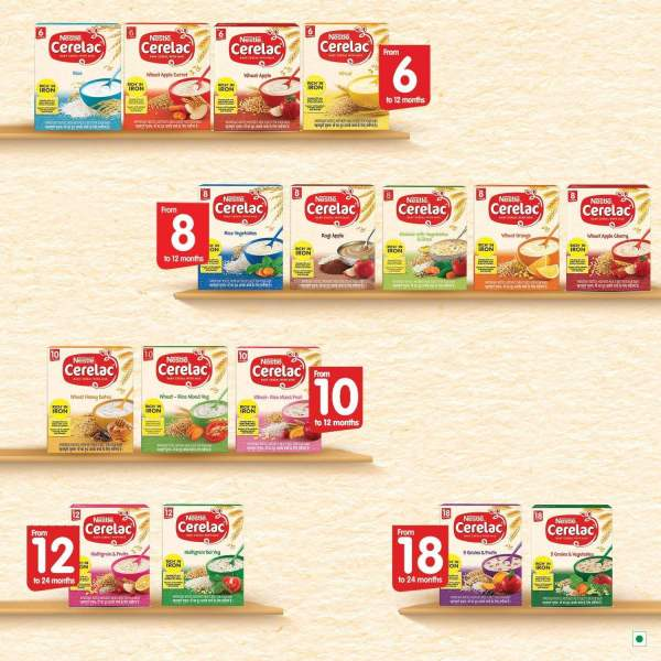 Nestle Cerelac Fortified Baby Cereal With Milk, Multigrain & Fruits - From 12 Months, 300 g - ClickUrKart