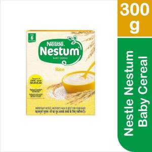 Nestle Nestum Baby Cereal - From 6 To 12 Months, Rice, 300 g - ClickUrKart