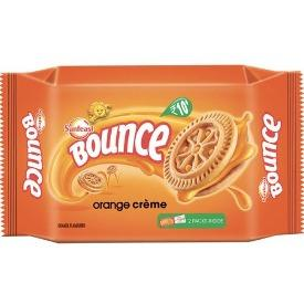 Sunfeast Bounce Biscuits - Orange Creme Cookies, 82 g Pouch