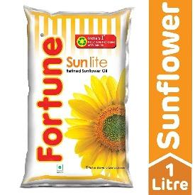 Fortune Sunflower Refined Oil, 1L Pouch