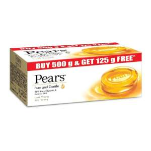 Pears Pure and Gentle Bathing Bar, 125g  (Buy 4 Get 1 Free) - ClickUrKart