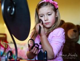 """Connie Hanks Photography // ClickyChickCreates.com // """"wanna play beauty salon?"""""""