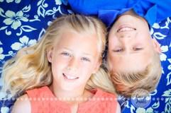 Connie Hanks Photography // ClickyChickCreates.com // Siblings, kids, photos, pre-tween, Balboa Park, spring, peach, blue, boy, girl,