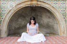 Connie Hanks Photography // ClickyChickCreates.com // Maternity session, baby bump, Balboa Park, family of three growing to four, pregnancy, big sister, baby, couple
