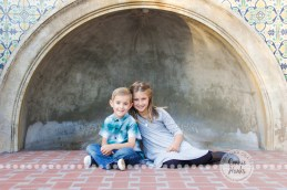 Connie Hanks Photography // ClickyChickCreates.com // Family photography, San Diego, Y Family, Balboa Park, arches