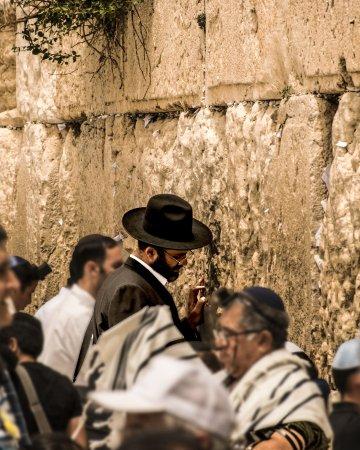 Muro del pianto a Gerusalemme - dettaglio dei fedeli