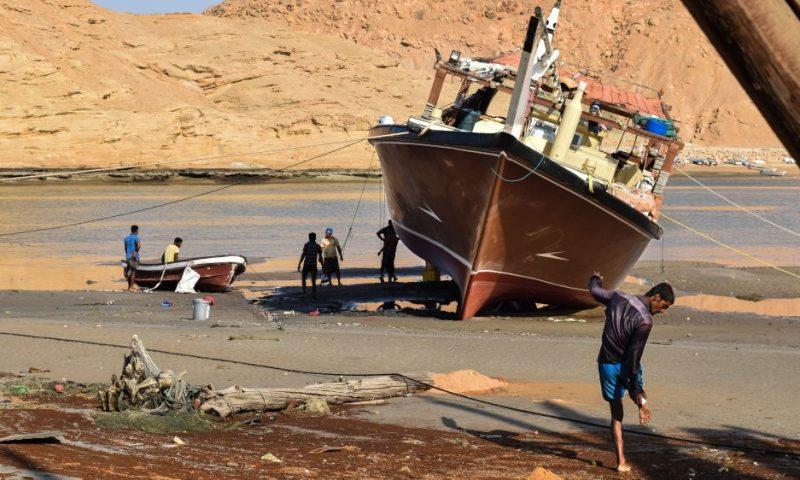 Il cantiere navale a Sur in Oman