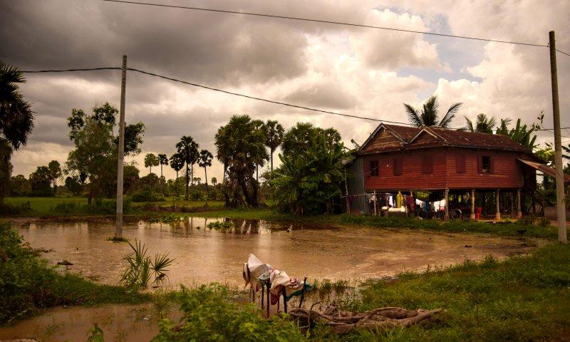 Visitare Angkor: villaggio nei pressi di Benteay Srei