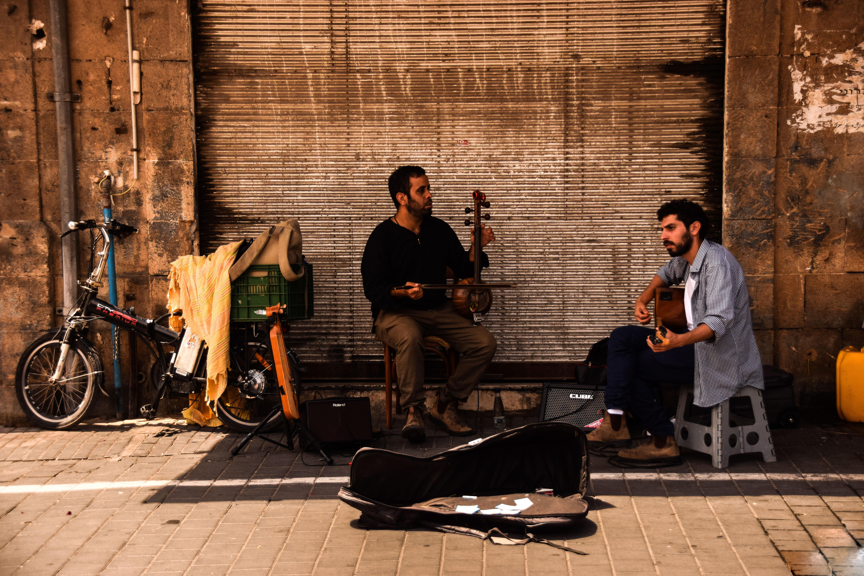 Musicisti di strada a Jaffa Tel Aviv
