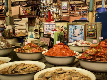 Bangkok banchetto del pesce particolare della merce