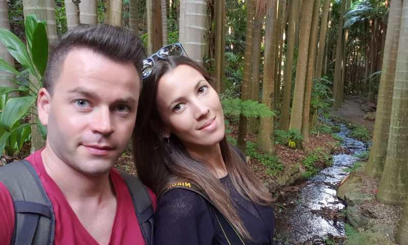 Brisbane Botanic Gardens noi nella foresta pluviale