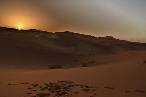 Marocco Una Meravigliosa Alba nel Deserto di Merzouga