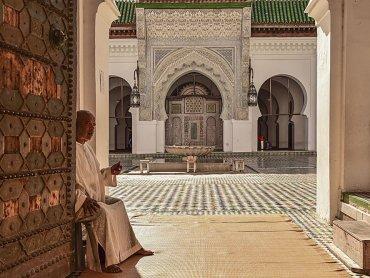 Marocco Fes Ingresso della Scuola Coranica