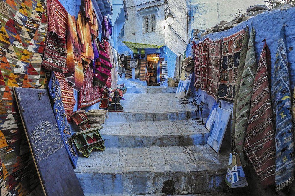 Itinerario Marocco Un Vicolo di Chefchauen
