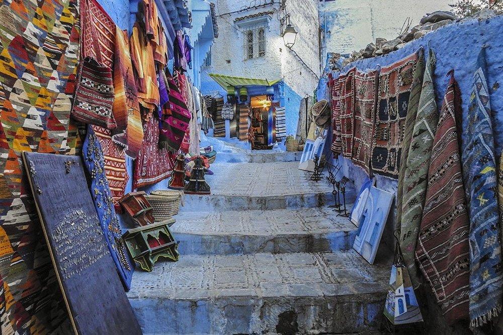 Marocco Un Vicolo di Chefchauen