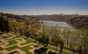 Porto: la vista del Douro dal Palacio de Cristal