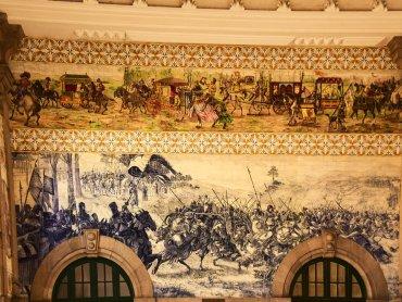 Porto Stazione Sao Bento parete con azulejos