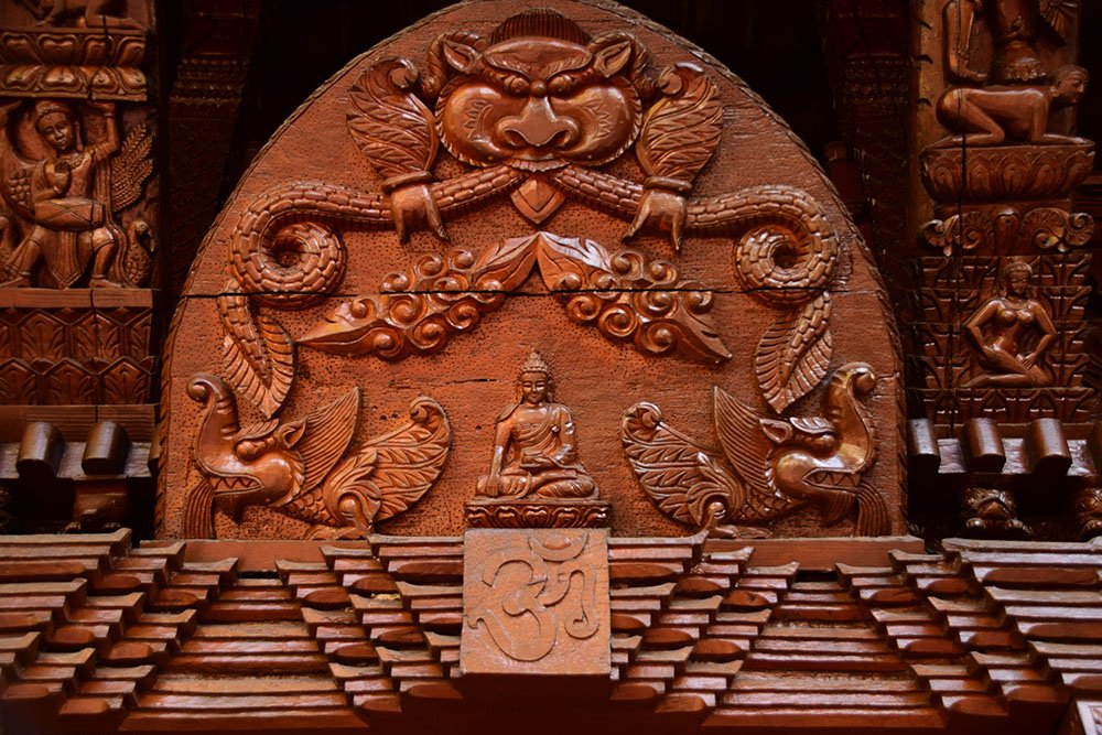 Pagoda Nepalese Brisbane Particolare delle decorazioni dell