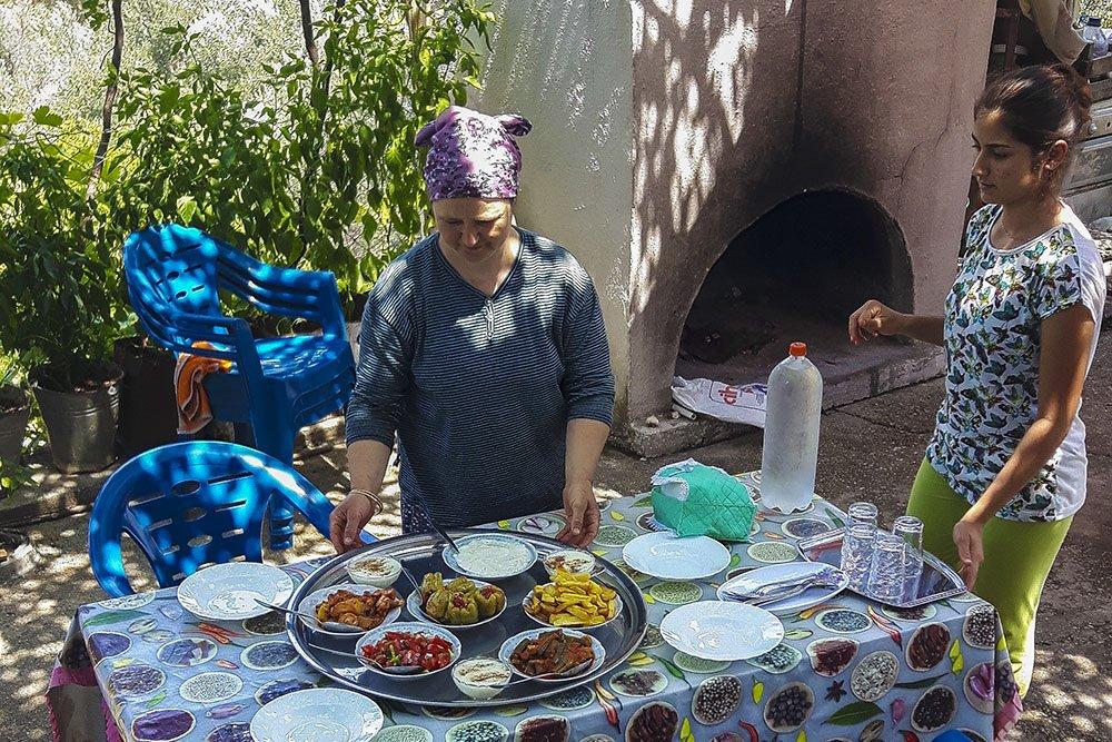 Turchia pranzo in famiglia