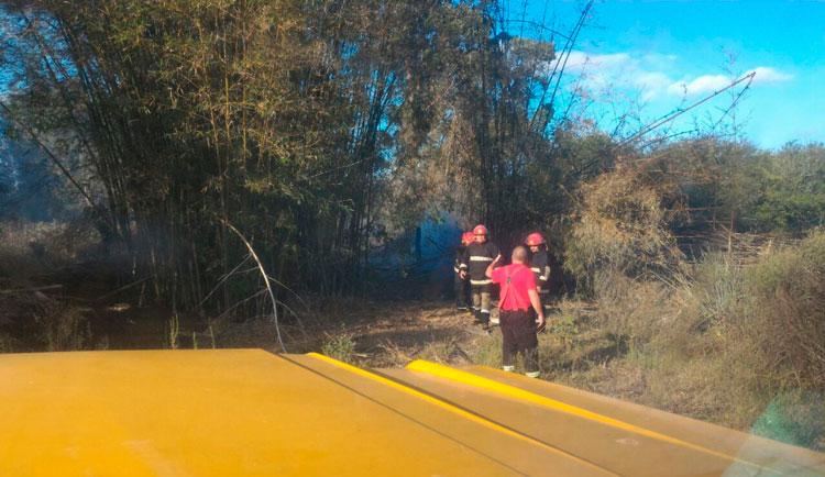 Bombeiros Voluntários controlam incêndio no Capão Alto