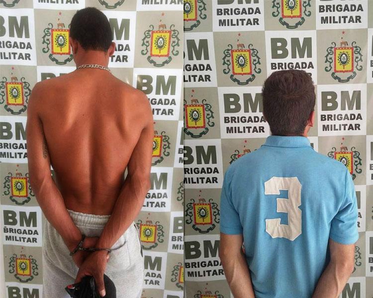 Brigada Militar de Tapes prende dupla que furtava propriedade rural