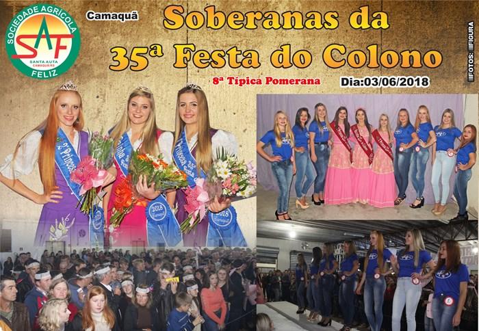 Escolha das Soberanas da 35ª Festa do Colono e 8ª Típica Pomerana