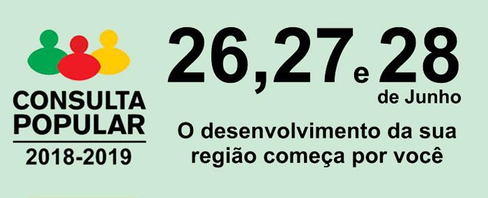 População vai votar na Consulta Popular 2018-2019