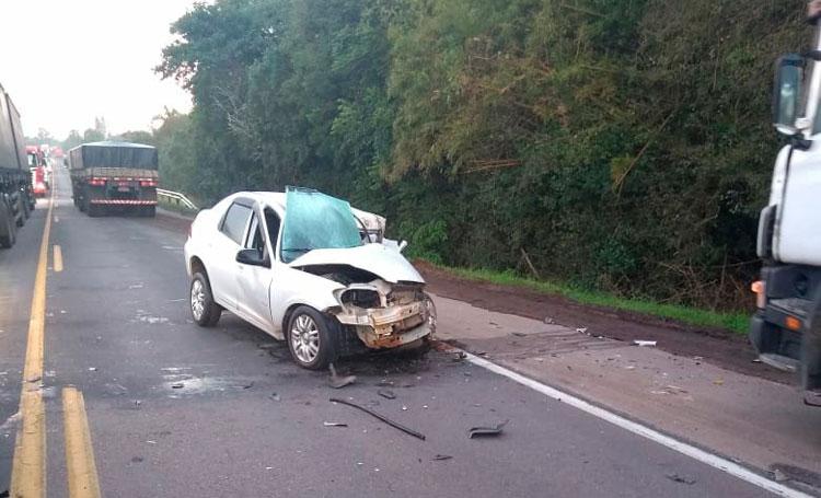 Homem morre em acidente na BR-116 nesta manhã