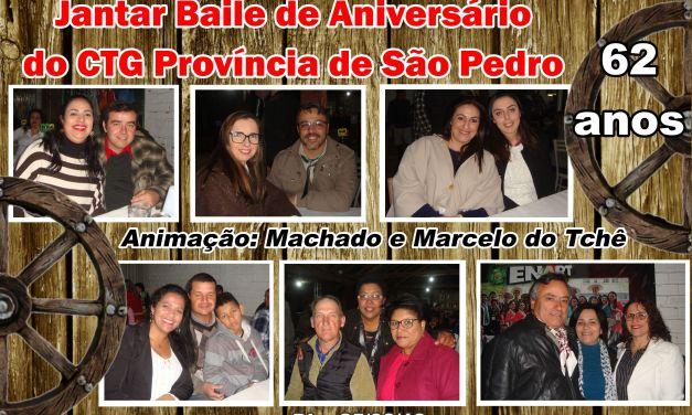 Jantar Baile marca o aniversário do CTG Província de São Pedro