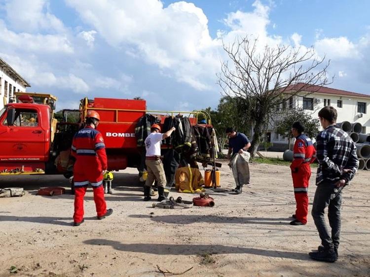 Bombeiros Civis Voluntários de Arambaré em constante treinamento