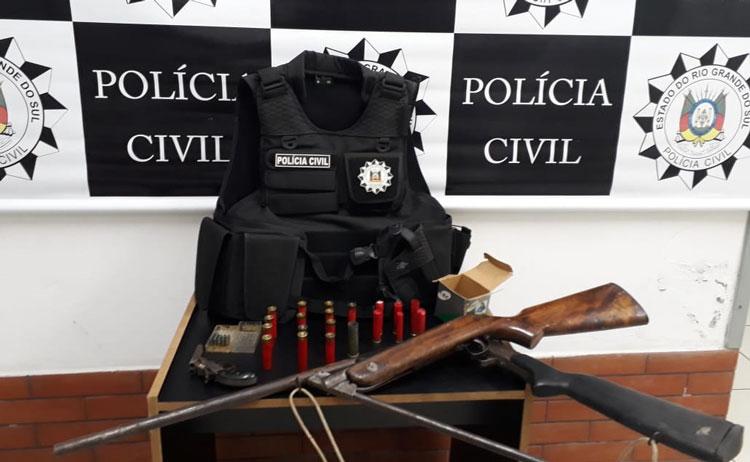 Polícia apreende armas no interior de Sertão Santana