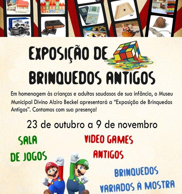 Exposição de brinquedos inicia no dia 23 de outubro