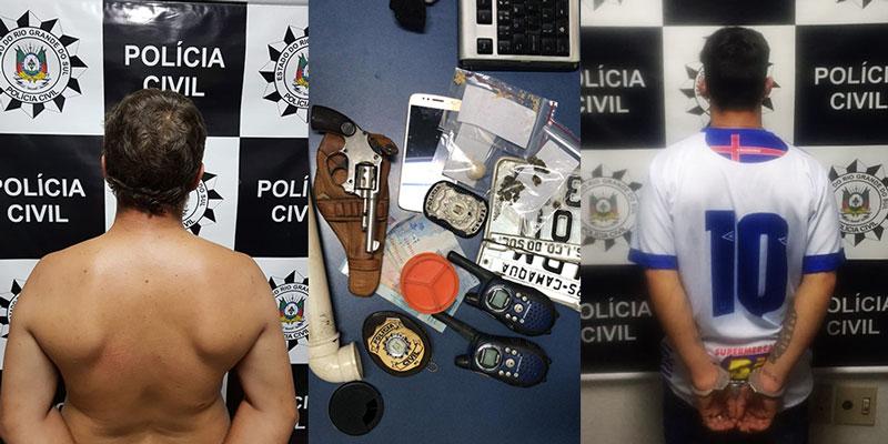 Polícia prende um traficante e um foragido em Camaquã