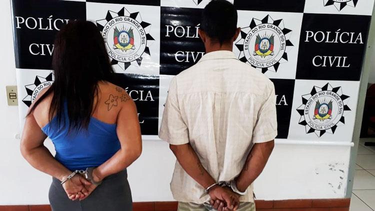 Casal preso por latrocínio em Mariana Pimentel