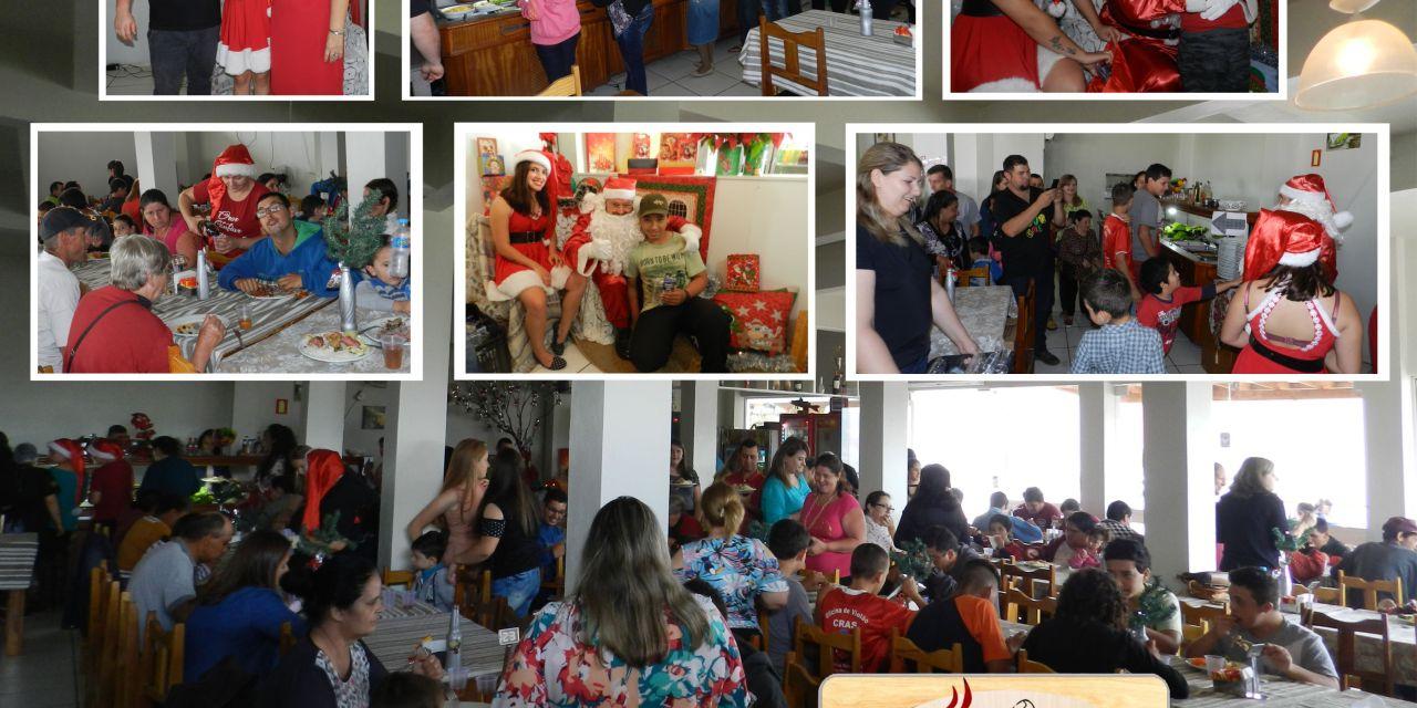 Restaurante Sabor do Cerro realiza Almoço Beneficente com a presença do Papai Noel – Fotos