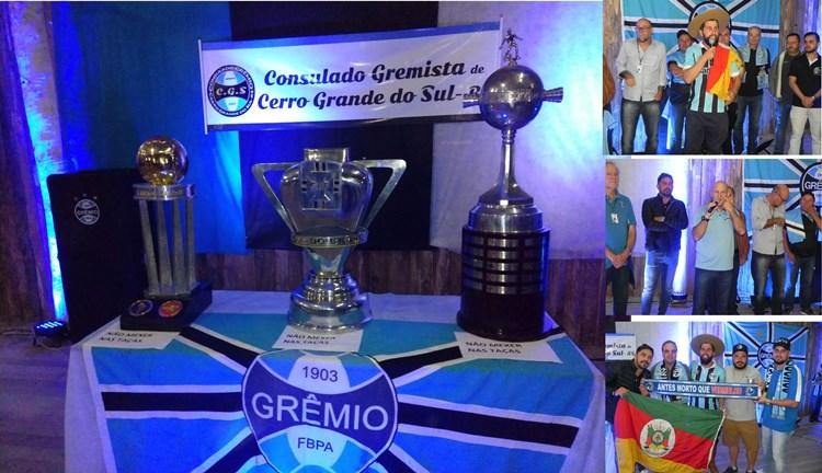 Jantar do Consulado Gremista em Cerro Grande do Sul