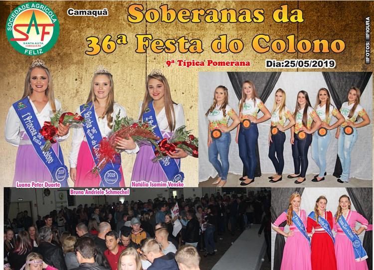 Definidas as Soberanas da 36ª Festa do Colono em Santa Auta