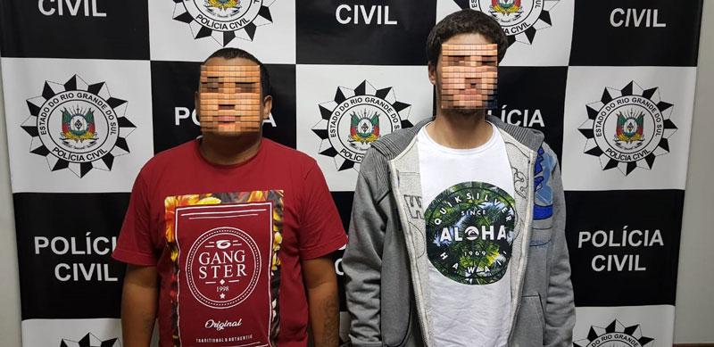Presos suspeitos de roubo a pedestres em Camaquã