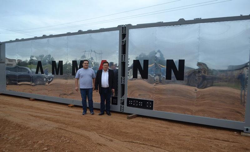Equipamentos da usina de asfalto chegam a Camaquã
