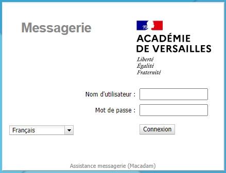 webmail ac Versailles connexion