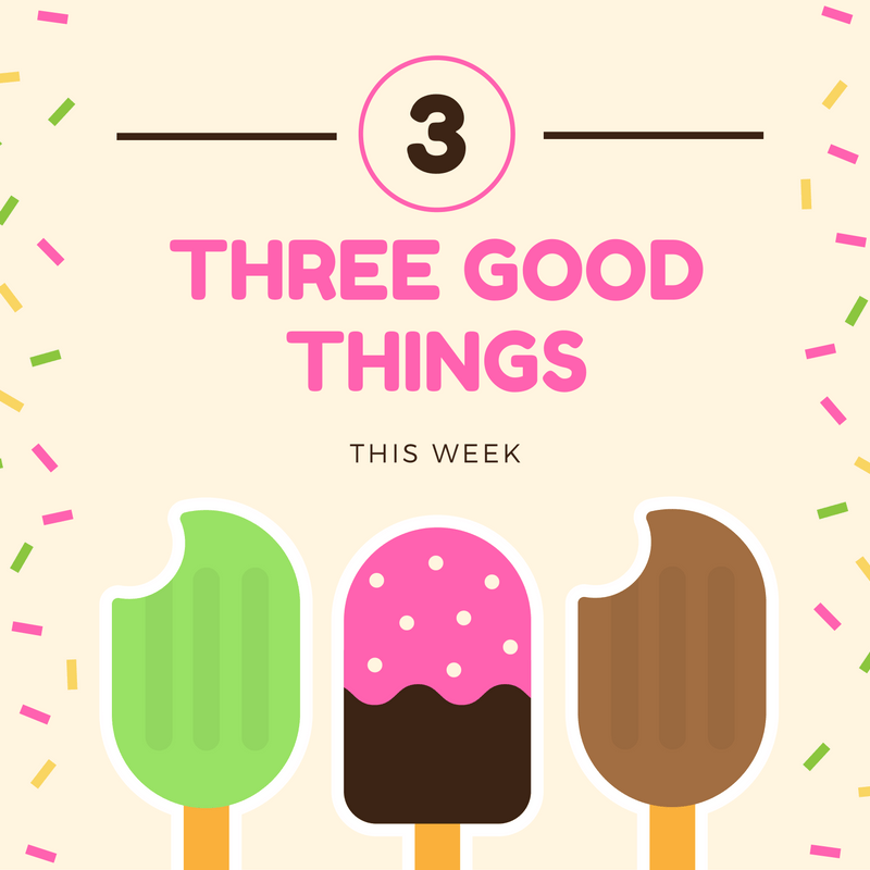 Three good things for November