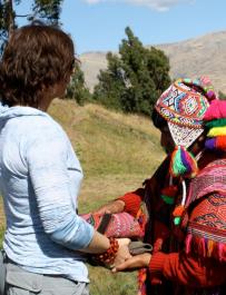 Lori in Peru receiving the Munay-ki rites
