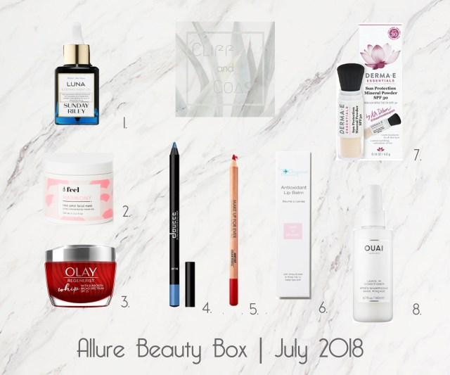 Allure Beauty Box July 2018