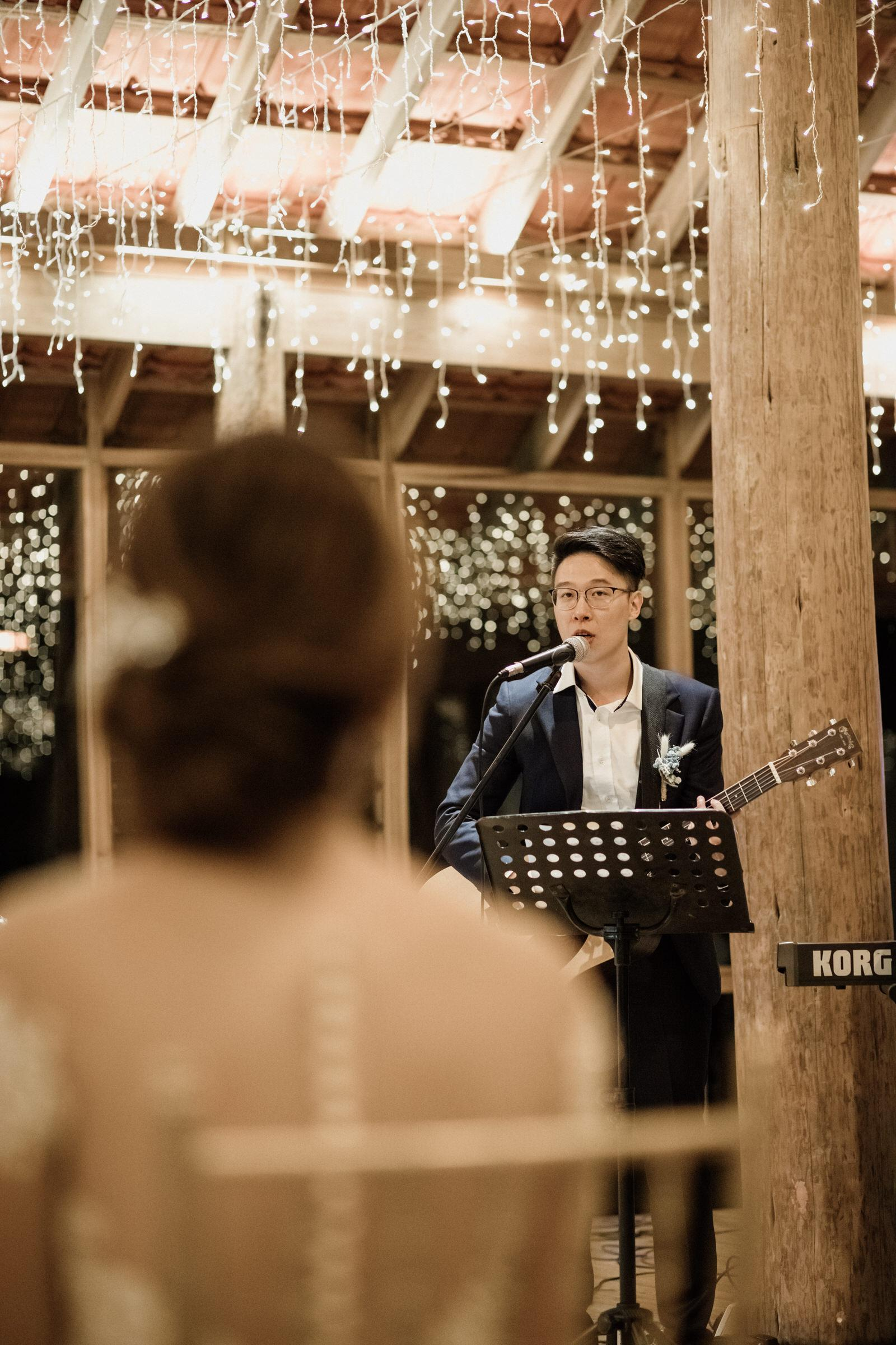 moments Tanarimba Gold and Rustic Garden Weding Janda baik Decoration wooden chair feather flowers Cliff Choong Photography
