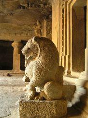 Guardian Lion at Elephanta